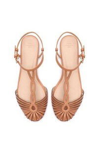 Zara nude flat sandal with ankle strap eur 40 us 9