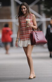 blouse,olivia palermo,skirt
