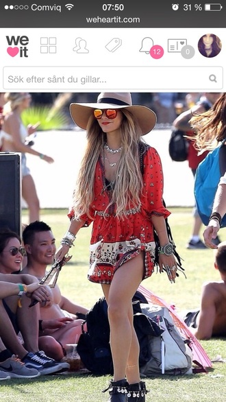 dress music festival vannessa hudgens indie dress bohoo chic hippie dress red dress coachella dress vanessa hudgens coachella coachella fashion coachella style