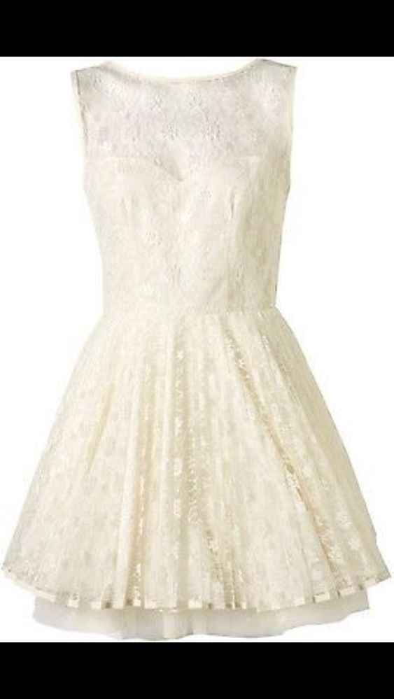 Topshop Jones & and Jones Ivory Lace Tutu Party Vivienne Dress - Size 8-10 | eBay