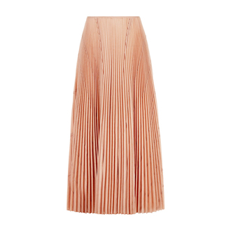 skirt pink skirt pleated skirt chiffon skirt spring skirt