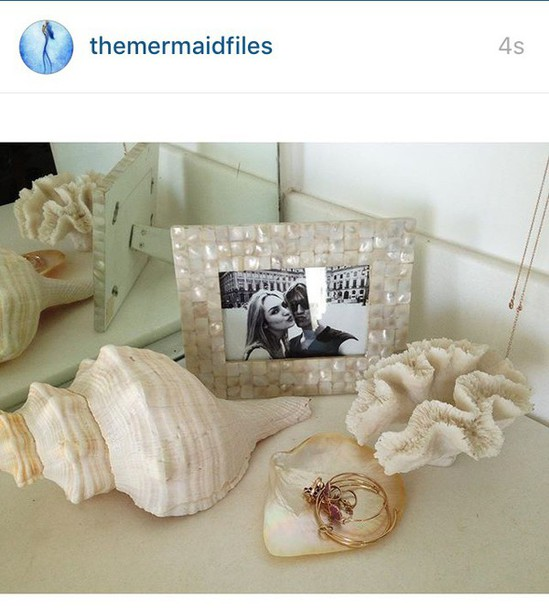 home accessory home decor home design white mermaid sea frame tortoise shell frame shell - Mermaid Home Decor