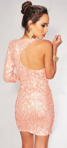 dress sparkly dress short dress bodycon dress glitter dress pink dress clubwear birthday dress