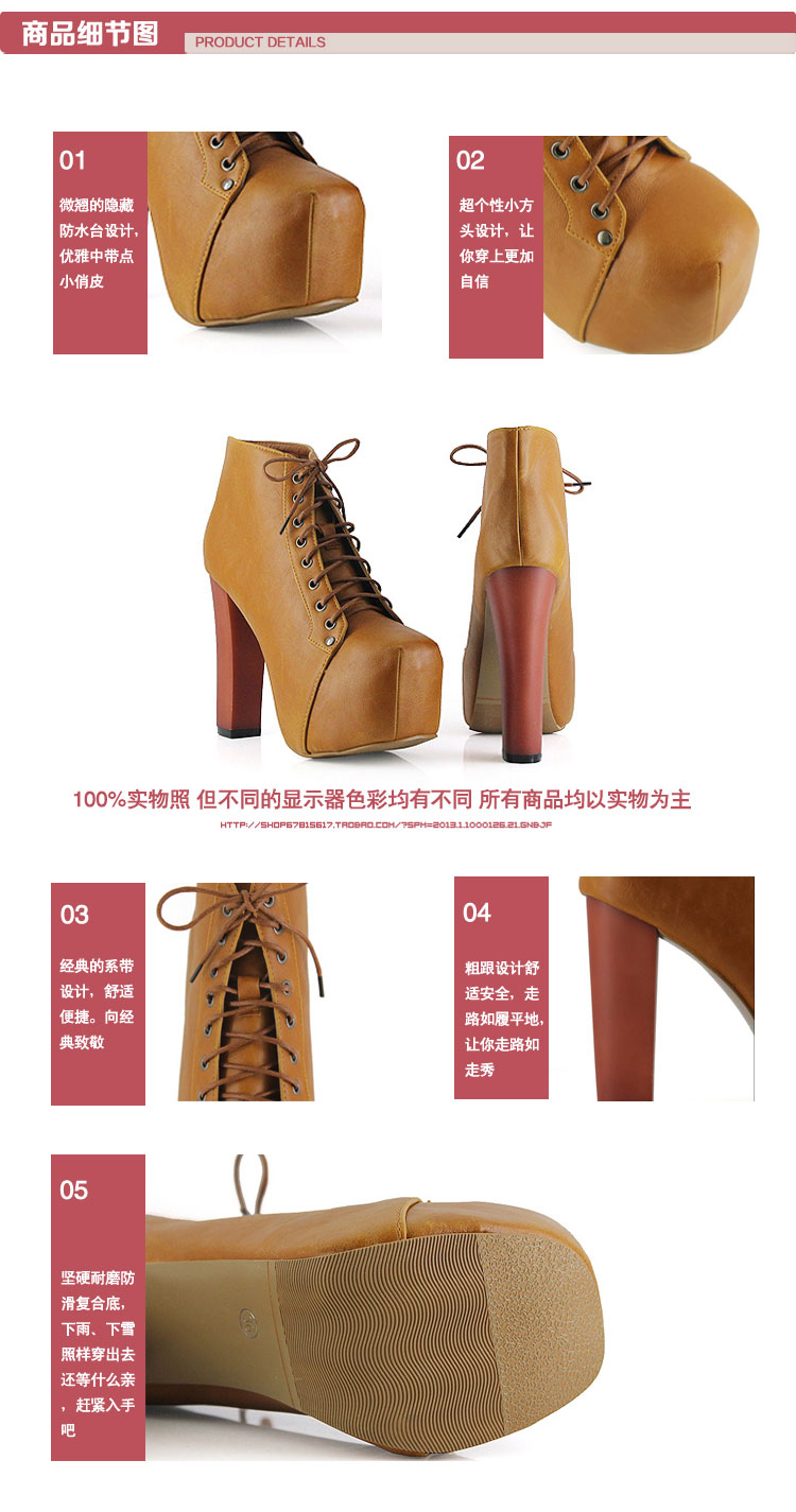2013 Ladies 4 Color Lita Platforms High Heels Lace UP Ankle Shoes Boots AU5 10 | eBay