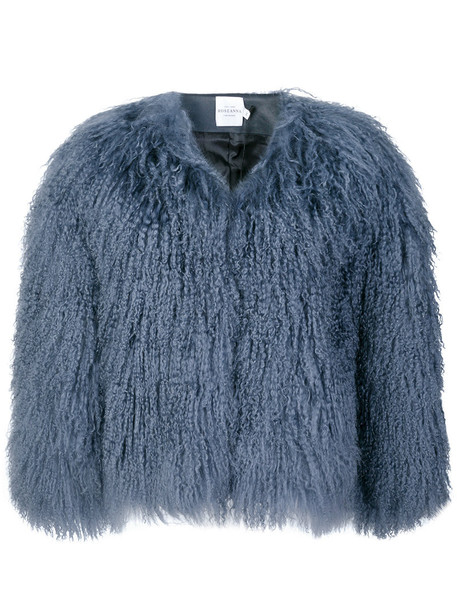 ROSEANNA jacket fur women blue