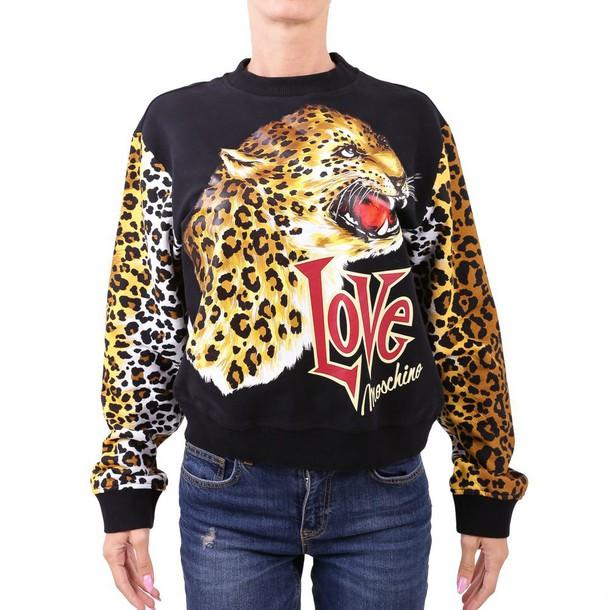 LOVE MOSCHINO sweatshirt cotton sweater