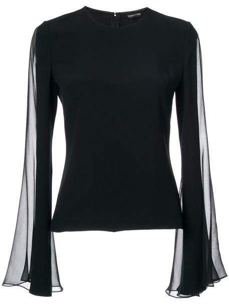 top women spandex black