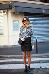 adenorah,t-shirt,skirt,shoes,sunglasses,bag