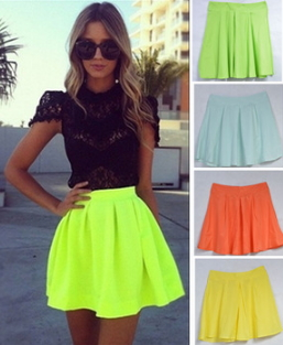 Neon Mini Skirts - Juicy Wardrobe