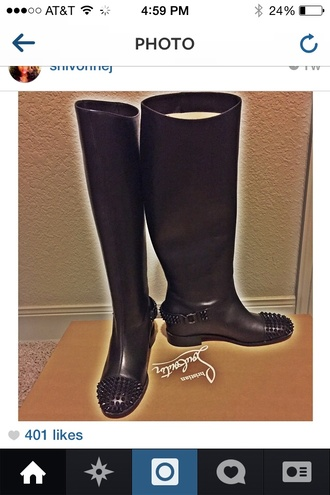 spike louivuitton wellies