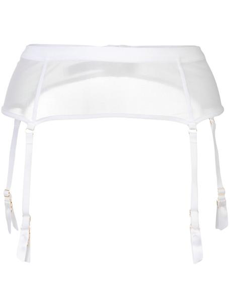 Maison Close Pure Tentation garter belt - White