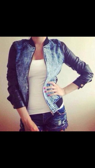 jeans jacket jacket black leather jacket bleached denim light blue