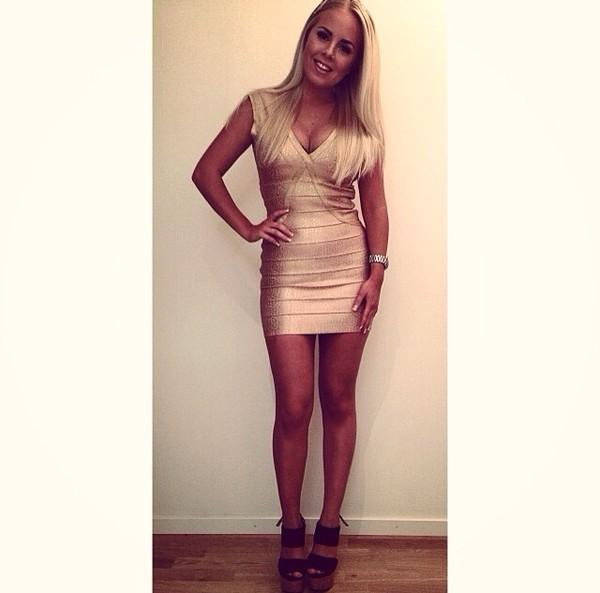dress champange dress bodycon dress bodycon dress gold gold dress shiny v neck dress party party dress