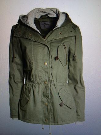 jacket utility olive green parka military style hoodie coat oversized jacket