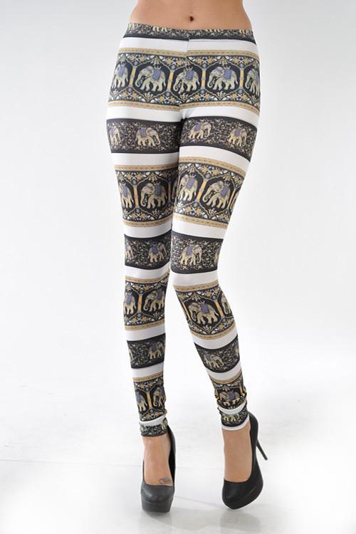 """""""namaste"""" elephant print leggings – glamzelle"""
