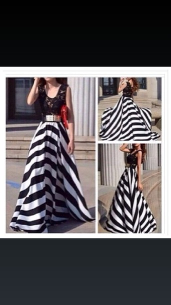 dress black and white dress lace top