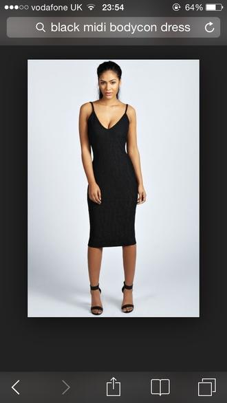 dress bodycon dress midi dress black dress