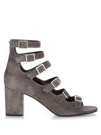 sandals suede dark grey shoes