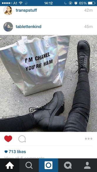 bag h&m chanel my other bag is chanel