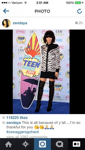 top zebra print zendaya black black leather dress zuhair murad