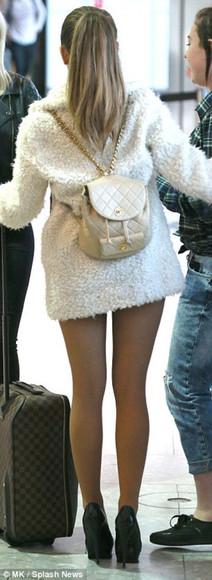 bag backpack white backpack ariana grande jacket