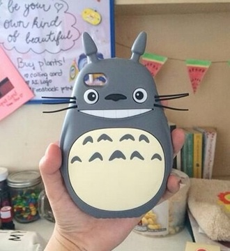 phone cover totoro grey cute japan movie anime