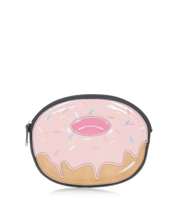 Pink Doughnut Zip Top Clutch