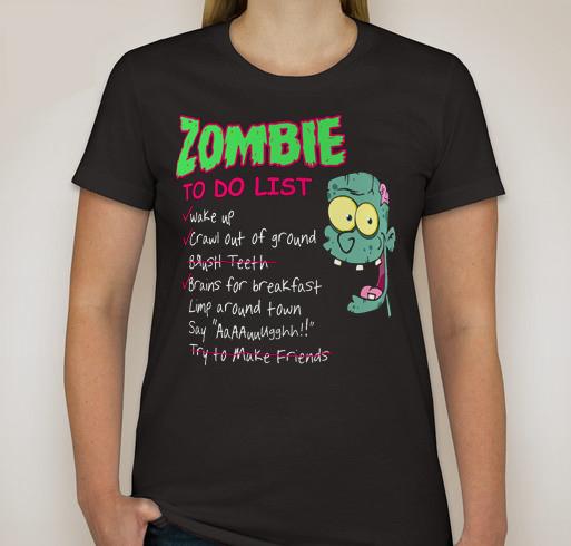 T49 Custom Women TShirt Zombie To Do List - T-Shirts & Tank Tops
