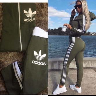 pants addidas pants jumpsuit adidas khaki adidas originals green jacket adidas outfit leggings adidas khaki adidas shoes adidas jacket two-piece shoes hot sexy