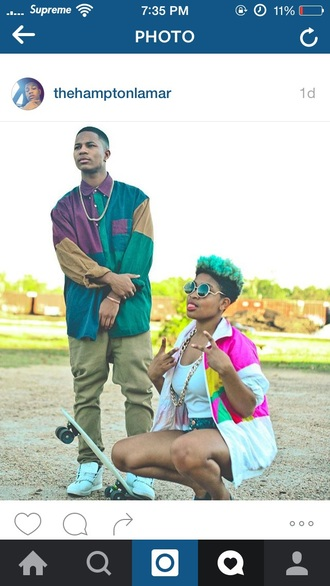 shirt vintage 80s style color block sweatshirt 90s style hip hop