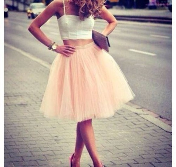 pink pink dress clothes love pink skirt pink prom dress tile twill pink skirt pastel pink girly tumblr girl blouse