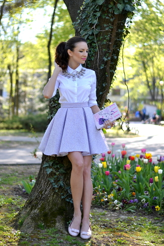my silk fairytale blogger shirt skirt jewels nail polish