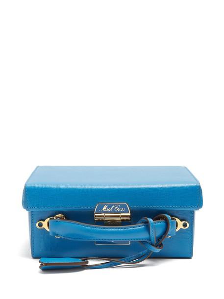 Mark Cross bag shoulder bag leather blue