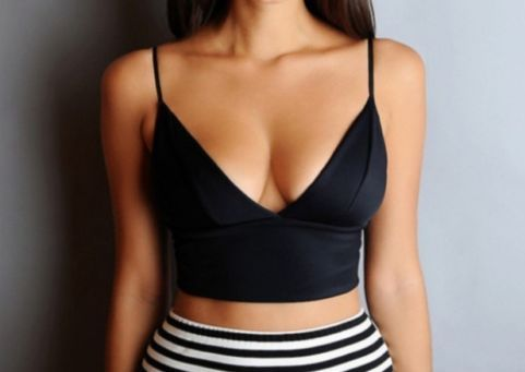 Alluring black crop top · fashion struck · online store powered by storenvy