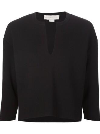 sweater women cotton black wool