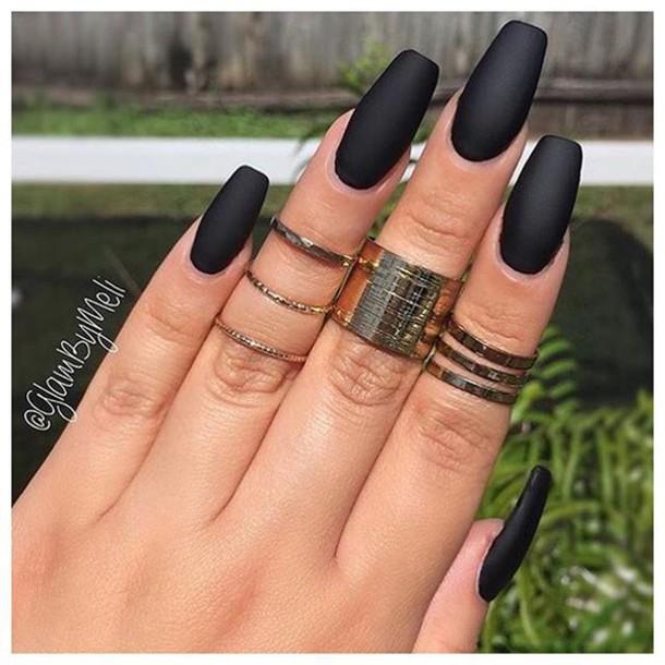 nail polish, black, matte nail polish, nail accessories, dark nail ...