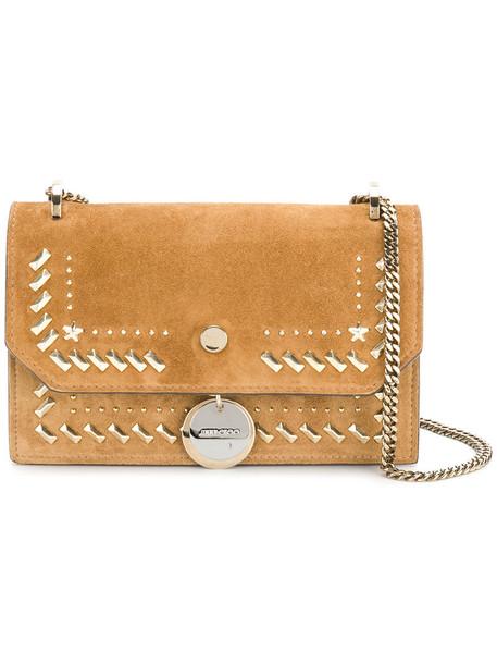 Jimmy Choo mini women bag crossbody bag leather suede brown
