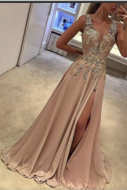 dress color shown in picture (peachy)