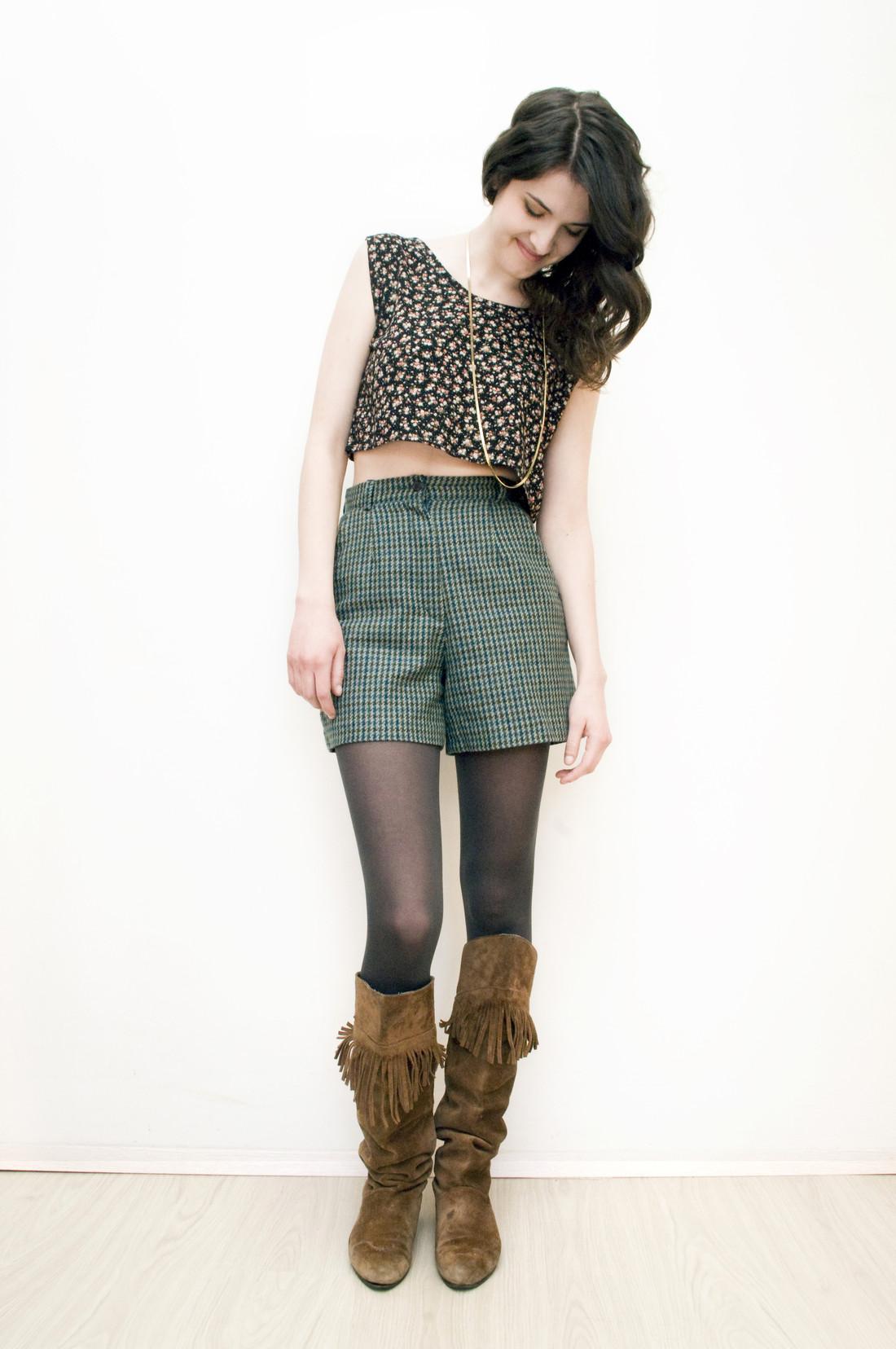 Green shorts - Pop Sick Vintage