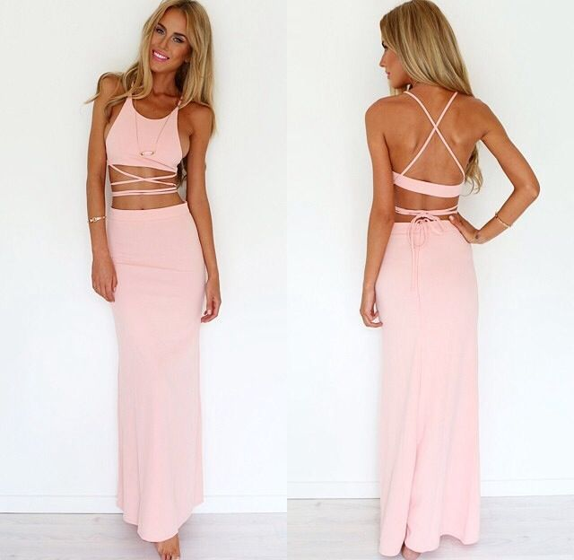 Aliexpress.com : Buy Free shipping 2014 fashion TWO PIECE CROSS OVER MAXI skirts suit 3 colors from Reliable skirt suit sets suppliers on ED FASHION