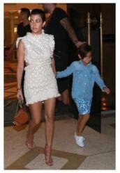 dress,lace dress,mini dress,kourtney kardashian,sandals,shoes