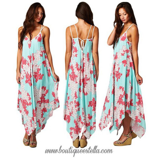 d5e3576df57 dress boutique estella floral beach beach dress summer outfits floral dress  mint and coral mint dress