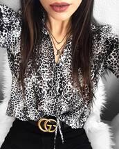 belt,tumblr,logo belt,gucci belt,jeans,black jeans,shirt,animal print,necklace,accessories,Accessory,printed shirt