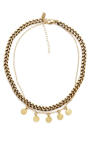 jewels electric picks gold necklace bikiniluxe