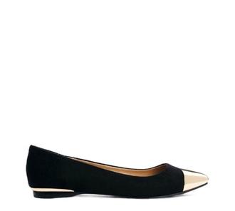 shoes black gold gold toe flats work flats shoes