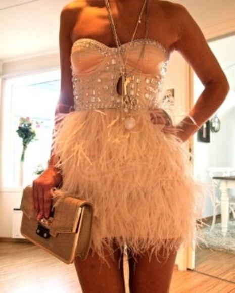 feathers dress fancy dress short party dresses