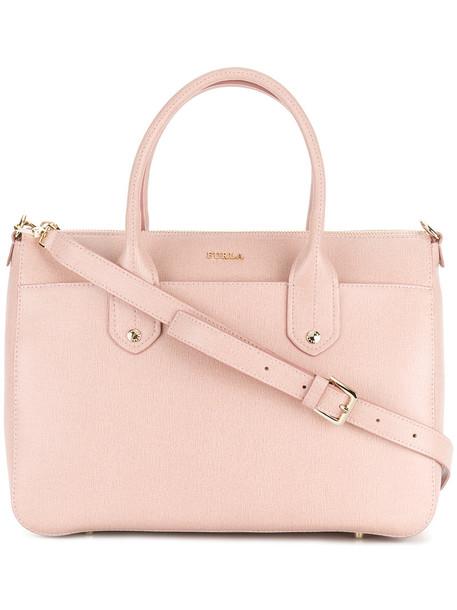 Furla - Linda satchel - women - Calf Leather/Viscose/Nylon - One Size, Pink/Purple, Calf Leather/Viscose/Nylon