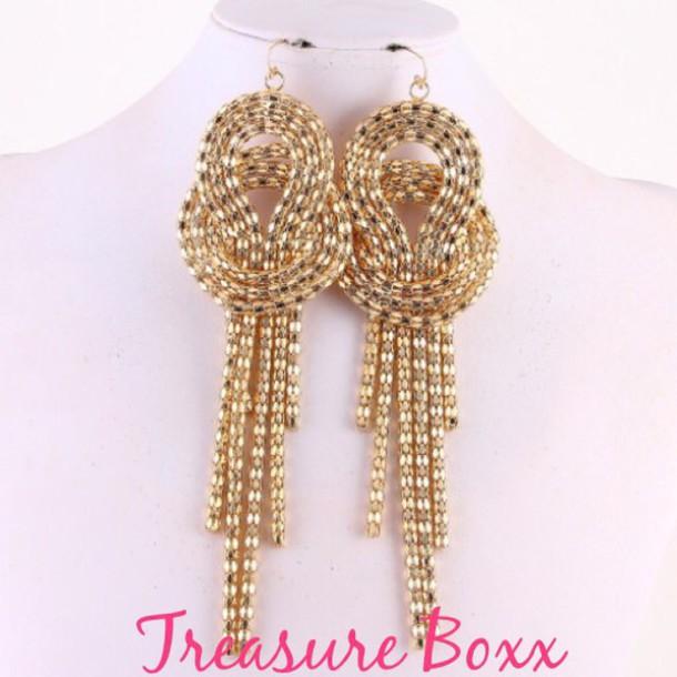 jewels earring gold tresureboxx urban jewelry earrings jewelry.accessories accessories