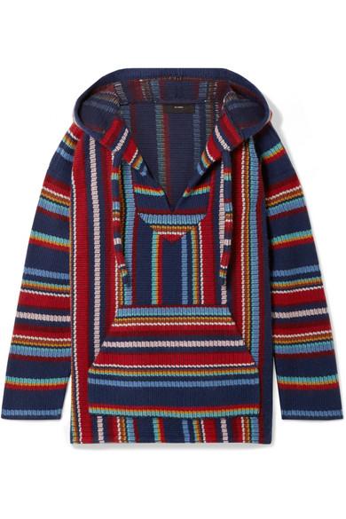 Alanui - Baja striped cotton and cashmere-blend hoodie