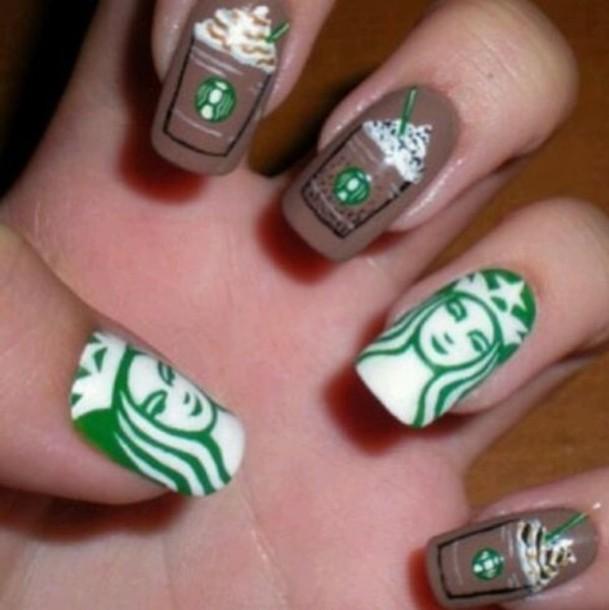nail polish starbucks coffee starbucks coffee top nails
